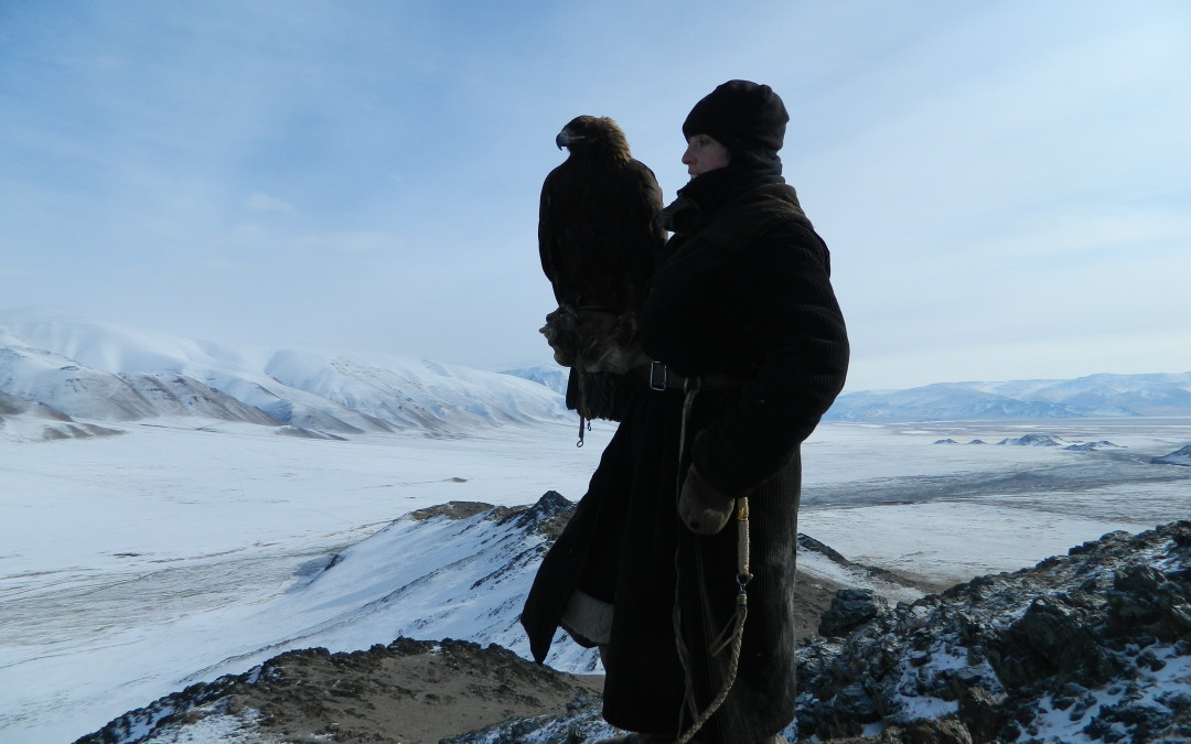Lauren McGough Apprentices with Eagle Falconers in Mongolia